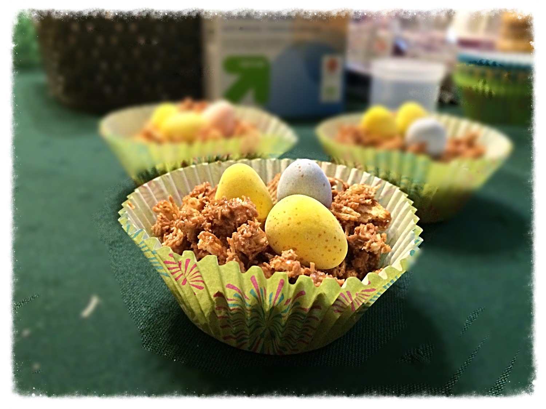 Springtime Treats: No-Bake Chocolate (& Peanut Butter) Bird Nests